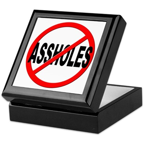 Anti / No Assholes Keepsake Box