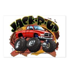 Red Jack-R-Up Ram Postcards (Package of 8)