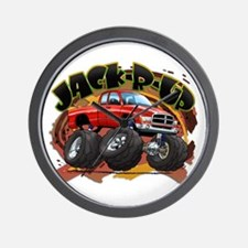 Red Jack-R-Up Ram Wall Clock