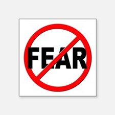 """Anti / No Fear Square Sticker 3"""" x 3"""""""