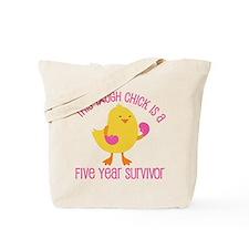 Breast Cancer 5 Year Survivor Chick Tote Bag