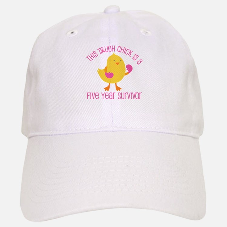 Breast Cancer 5 Year Survivor Chick Baseball Baseball Cap