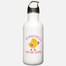 Breast Cancer 5 Year Survivor Chick Water Bottle