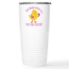 Breast Cancer 5 Year Survivor Chick Travel Mug