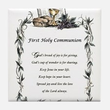 First Holy Communion Tile Coaster