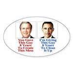Give Obama 8 Years Sticker (Oval 50 pk)