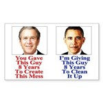 Give Obama 8 Years Sticker (Rectangle)