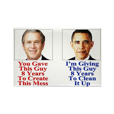 Give Obama 8 Years Rectangle Magnet