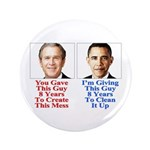 """Give Obama 8 Years 3.5"""" Button"""