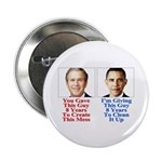 """Give Obama 8 Years 2.25"""" Button (10 pack)"""