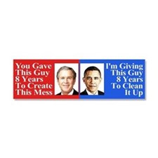 Give Obama 8 Years Car Magnet 10 x 3