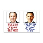 Give Obama 8 Years 20x12 Wall Decal