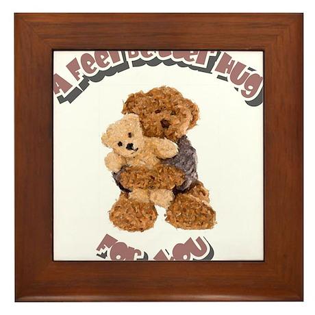 Feel Better Hug Framed Tile