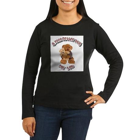 Feel Better Hug Women's Long Sleeve Dark T-Shirt