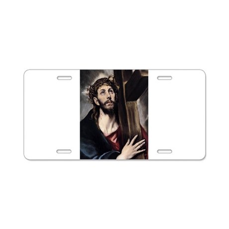 Christ carrying the Cross Aluminum License Plate
