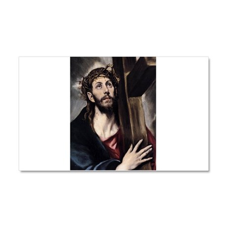 Christ carrying the Cross Car Magnet 20 x 12