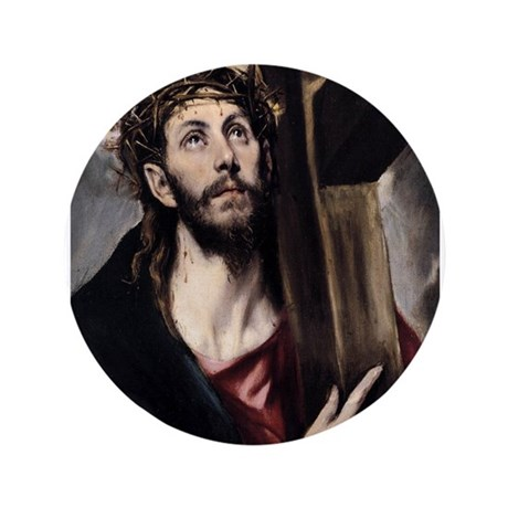 """Christ carrying the Cross 3.5"""" Button (100 pack)"""