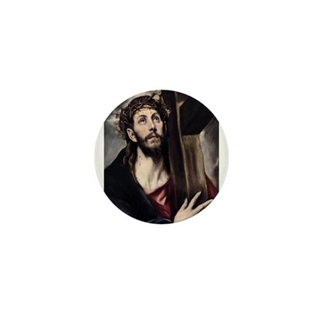 Christ carrying the Cross Mini Button (100 pack)
