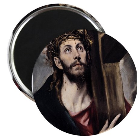 """Christ carrying the Cross 2.25"""" Magnet (100 pack)"""