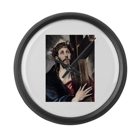Christ carrying the Cross Large Wall Clock
