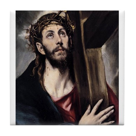 Christ carrying the Cross Tile Coaster