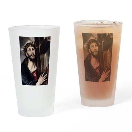 Christ carrying the Cross Drinking Glass