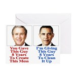 Give Obama 8 Years Greeting Card