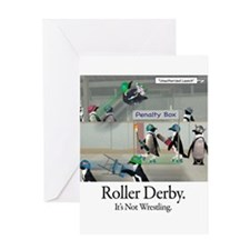 Roller Derby - Its Not Wrestling Greeting Card