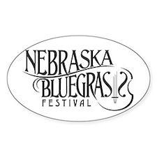 Nebraska Bluegrass Oval Decal