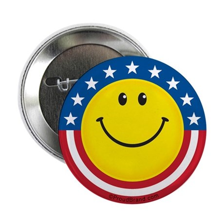 """Smile for USA: 2.25"""" Button (10 pack)"""