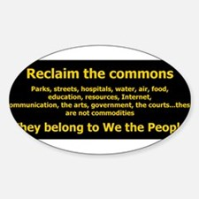Reclaim the Commons list Decal