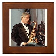 Bill Clinton Framed Tile