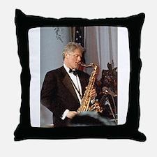 Bill Clinton Throw Pillow
