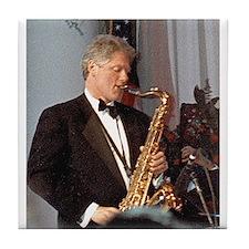 Bill Clinton Tile Coaster