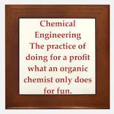 chemistry joke Framed Tile