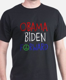 OBAMA BIDEN FORWARD PEACE T-Shirt