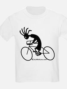 Kokopelli Road Cyclist Kids T-Shirt