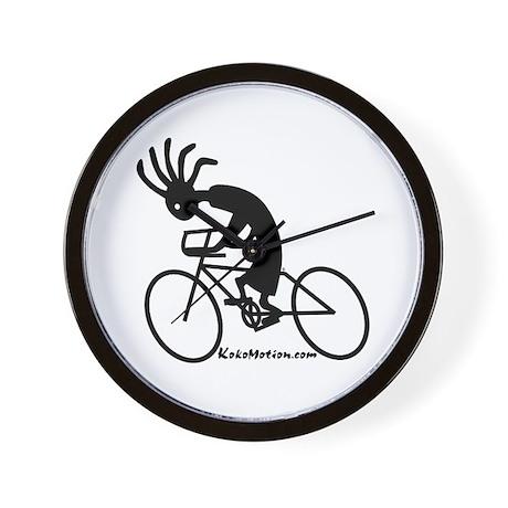 Kokopelli Road Cyclist Wall Clock
