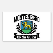 Montenegro Coat of Arms Sticker (Rectangle)