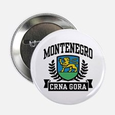 """Montenegro Coat of Arms 2.25"""" Button"""