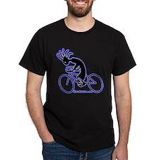 Kokopelli Road Cyclist Black T-Shirt