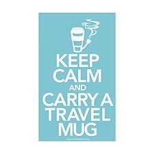 Keep Calm and Carry Travel Mug Decal