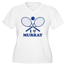Love Murray Women's Plus Size White V-Neck T-Shirt