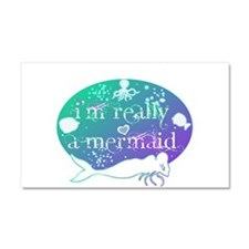 lg really a mermaid.png Car Magnet 20 x 12