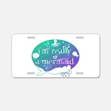lg really a mermaid.png Aluminum License Plate
