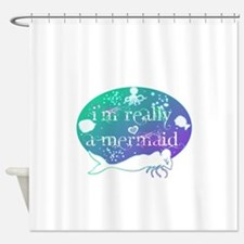 lg really a mermaid.png Shower Curtain