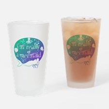 lg really a mermaid.png Drinking Glass