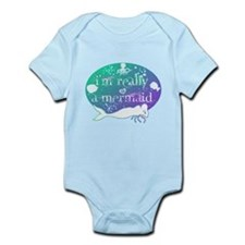 lg really a mermaid.png Infant Bodysuit