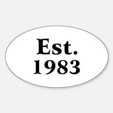 Est. 1983 Oval Decal