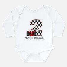 2nd Birthday Race Car Long Sleeve Infant Bodysuit